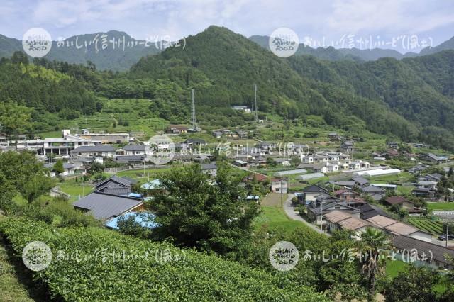 天龍村の農村風景