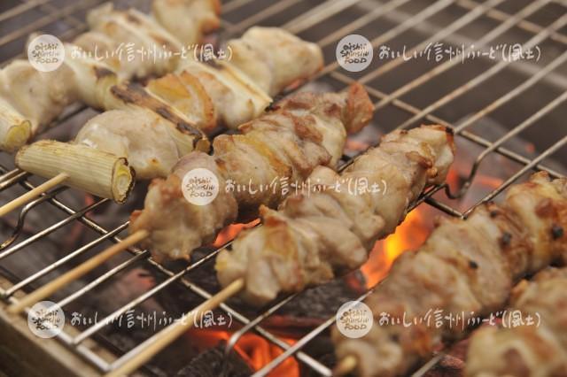 信州黄金シャモの料理【串焼き】