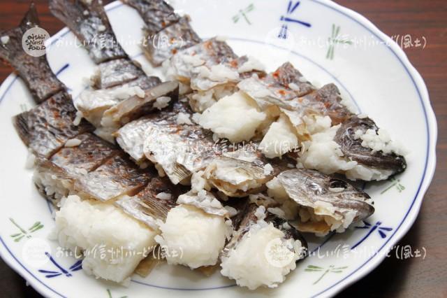 王滝村の万年鮨(料理)