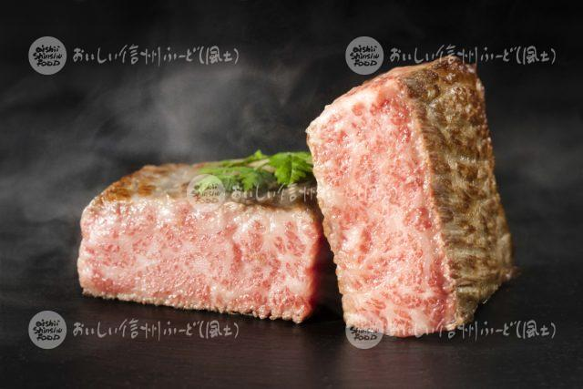 信州プレミアム牛肉の料理(厚焼き)