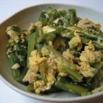コーレと凍み豆腐の卵とじ