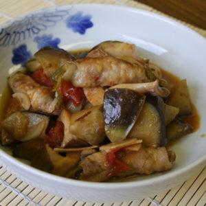 豚ロールのはちみつ黒酢煮