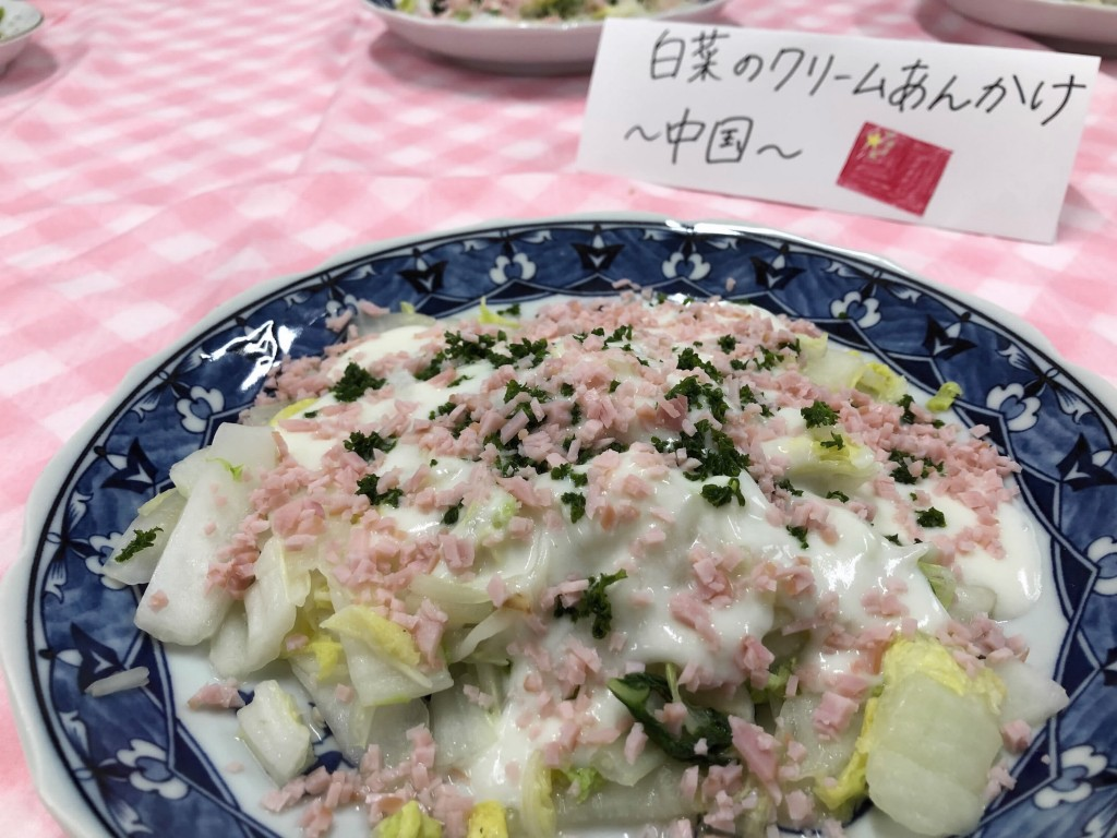 はくさいの牛乳あんかけ ~信州夏野菜を美味しく楽しめるレシピ~