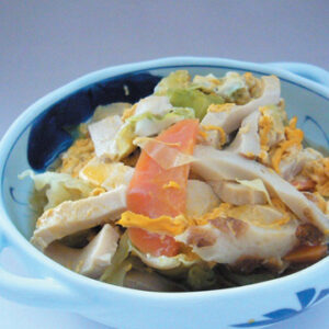 野菜と凍み豆腐の卵とじ