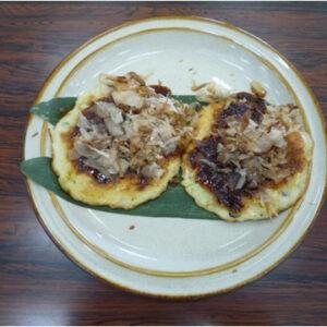 お好み焼き2種(キャベツ味、野沢菜味)