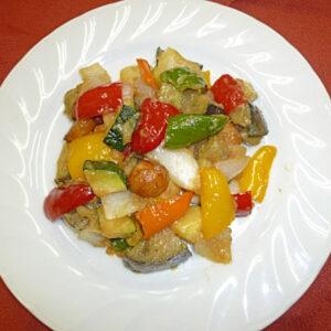 夏野菜の油炒め