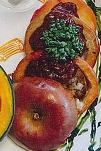 りんごのハンバーグ