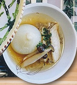 玉ネギ丸ごとスープ